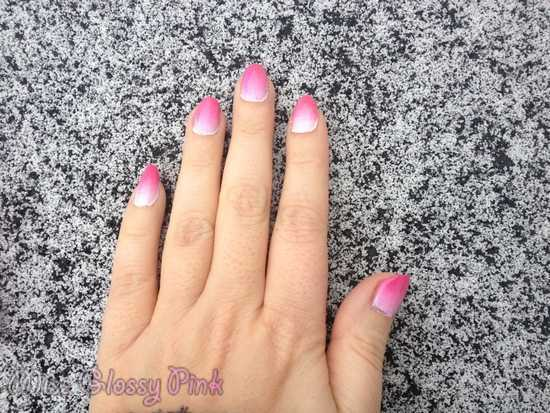 nail art rose facile