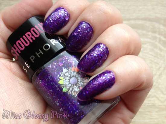 test vernis violet  shourouk sephora